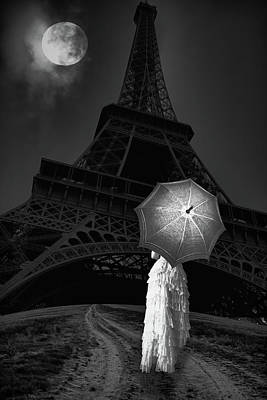 Digital Art - The Long Way To Paris Bw by Mihaela Pater
