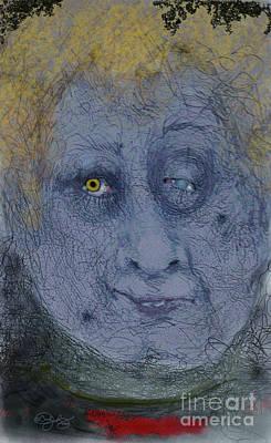 Digital Art - The Look by Carol Jacobs