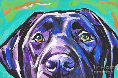 Puppies Painting - The Look Of Lab by Lea S