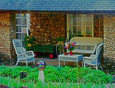 Porch Mixed Media - The Look Of Rock by Julie Grace