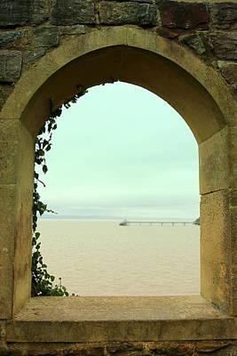 The Lookout Window View Of Clevedon Pier Art Print by Anita Hiltz