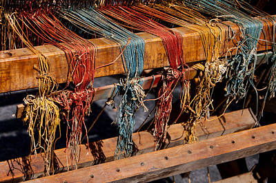 Hand-weaving Photograph - The Loom by Art Block Collections