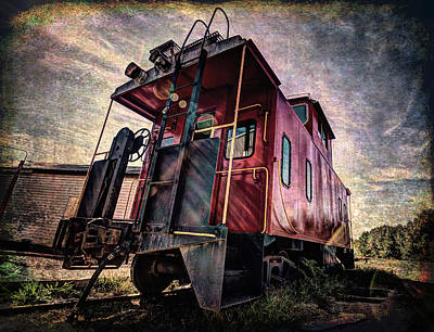 Digital Art - The Loose Caboose by Joe Sparks