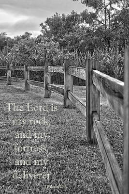 Photograph - The Lord Is My Rock And My Fortress by Mechala Matthews