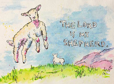 The Lord Is My Shepherd Art Print by Chris Rice