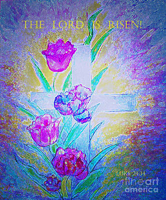 Painting - The Lord Is Risen by Hazel Holland