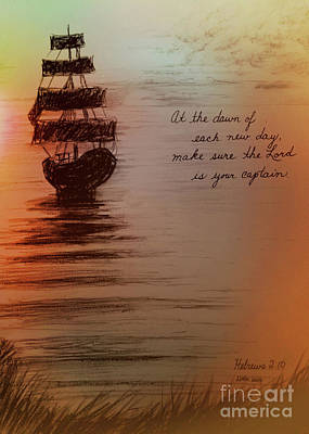Wall Art - Digital Art - The Lord Is Your Captain by Debra Link