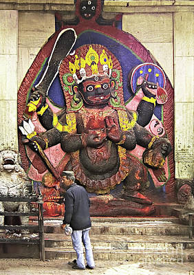 Photograph - The Lord Of Time - Kala Bhairava by Gabriele Pomykaj