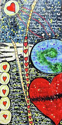 Religious Mixed Media - The Lord's Prayer by Cathie Moravcik