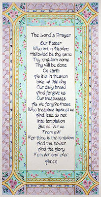 Painting - The Lord's Prayer by Lisa Vincent