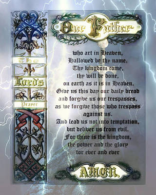 Digital Art - The Lord's Prayer by Pennie McCracken