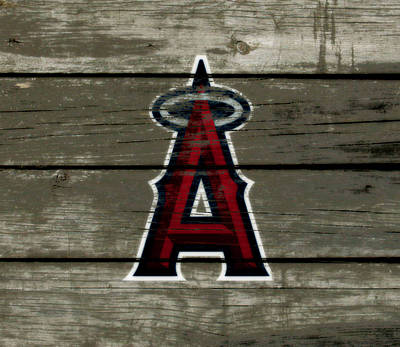 Detroit Tigers Mixed Media - The Los Angeles Angels Of Anaheim 1a by Brian Reaves