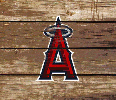 Detroit Tigers Mixed Media - The Los Angeles Angels Of Anaheim 1c by Brian Reaves