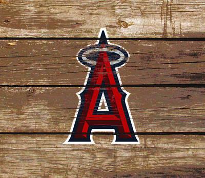 The Los Angeles Angels Of Anaheim 1c Art Print