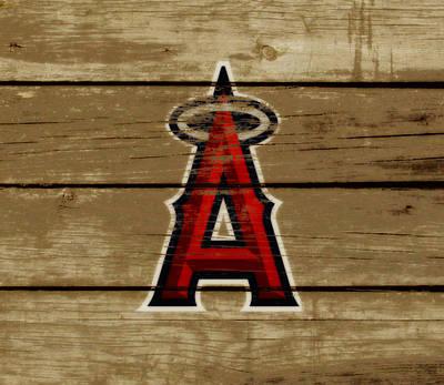 The Los Angeles Angels Of Anaheim Art Print