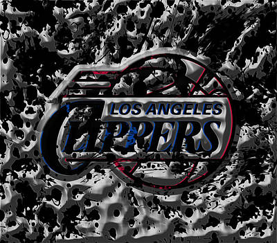 The Los Angeles Clippers 1a Art Print by Brian Reaves