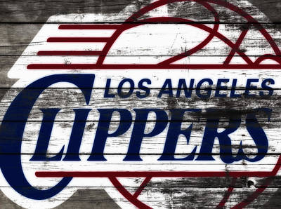 The Los Angeles Clippers 3c Art Print by Brian Reaves