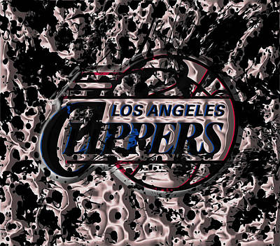 The Los Angeles Clippers Art Print by Brian Reaves