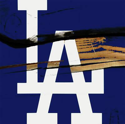 Diamondback Mixed Media - The Los Angeles Dodgers 1w by Brian Reaves