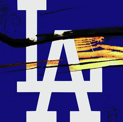 Diamondback Mixed Media - The Los Angeles Dodgers 2w by Brian Reaves