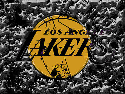 La Lakers Mixed Media - The Los Angeles Lakers B4a by Brian Reaves