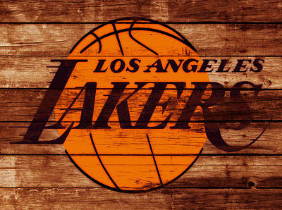 La Lakers Mixed Media - The Los Angeles Lakers W6 by Brian Reaves