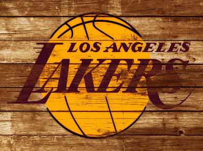 La Lakers Mixed Media - The Los Angeles Lakers W7 by Brian Reaves