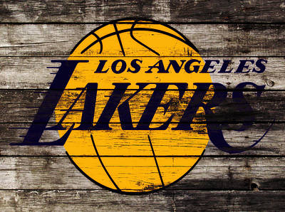 La Lakers Mixed Media - The Los Angeles Lakers W8 by Brian Reaves