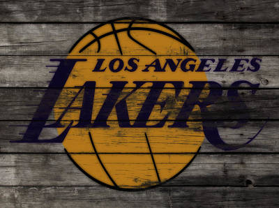 La Lakers Mixed Media - The Los Angeles Lakers W9 by Brian Reaves