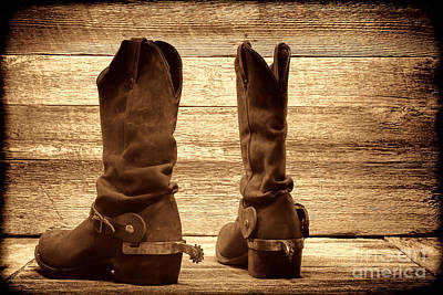 Photograph - The Lost Boots by American West Legend By Olivier Le Queinec