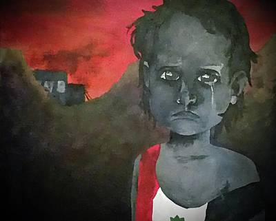 Digital Art - The Lost Children Of Aleppo by Joseph Hendrix