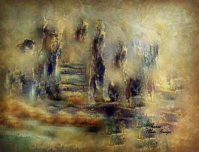 Art Print featuring the painting The Lost City By Sherriofpalmsprings by Sherri  Of Palm Springs
