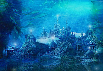 Atlantis Digital Art - The Lost City by Mary Hood