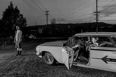 Photograph - The Lost Highway Chevy Impala 1960 by Christian Heeb