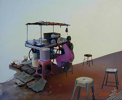 Painting - The Lounge by Bijay Biswaal