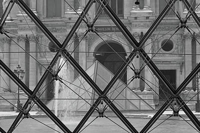 Photograph - The Louvre From The Inside by Samantha Delory