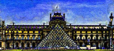 Paris Skyline Royalty-Free and Rights-Managed Images - The Louvre by Jean-Marc Lacombe