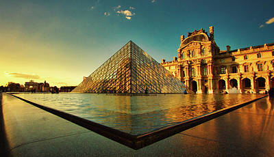 Photograph - The Louvre Museum by Kevin Schwalbe