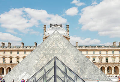 Que Photograph - The Louvre Of Paris by Anastasy Yarmolovich