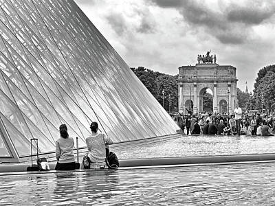 Photograph - The Louvre Pyramid And The Arc De Triomphe Du Carrousel by Digital Photographic Arts