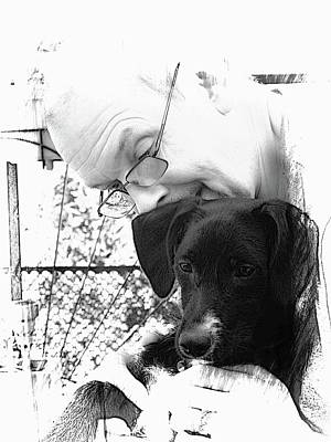 Photograph - The Love Between Man And Dog by Dorothy Berry-Lound