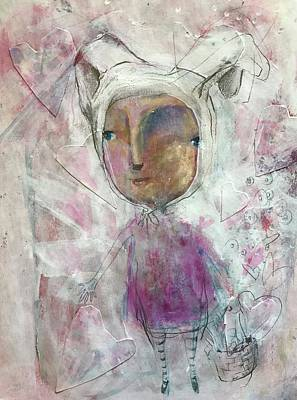 Painting - The Love Bunny by Eleatta Diver