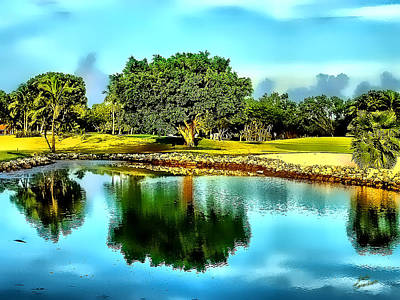 The Love Of Golf Art Print by Kathy Tarochione
