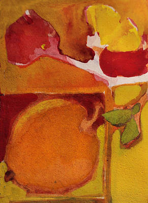 Painting - The Love Of Orange by Diane Ursin