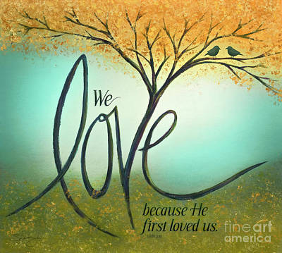 Mixed Media - The Love Tree by Shevon Johnson
