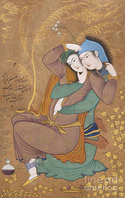 Potions Painting - The Lovers by Riza-i Abbasi