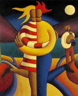 The Lovers Seranade Art Print by Alan Kenny