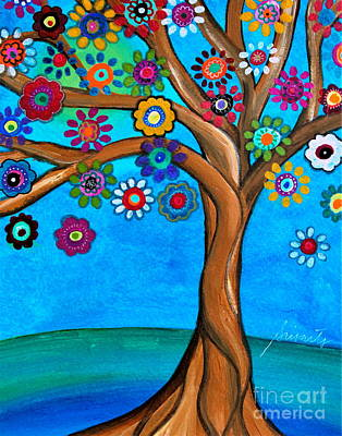 Painting - The Loving Tree Of Life by Pristine Cartera Turkus