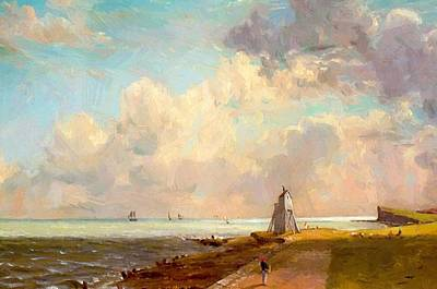 Painting - The Low Lighthouse And Beacon Hill by Constable John