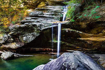 Photograph - The Lower Falls At Hocking Hills State Park by Ron Pate